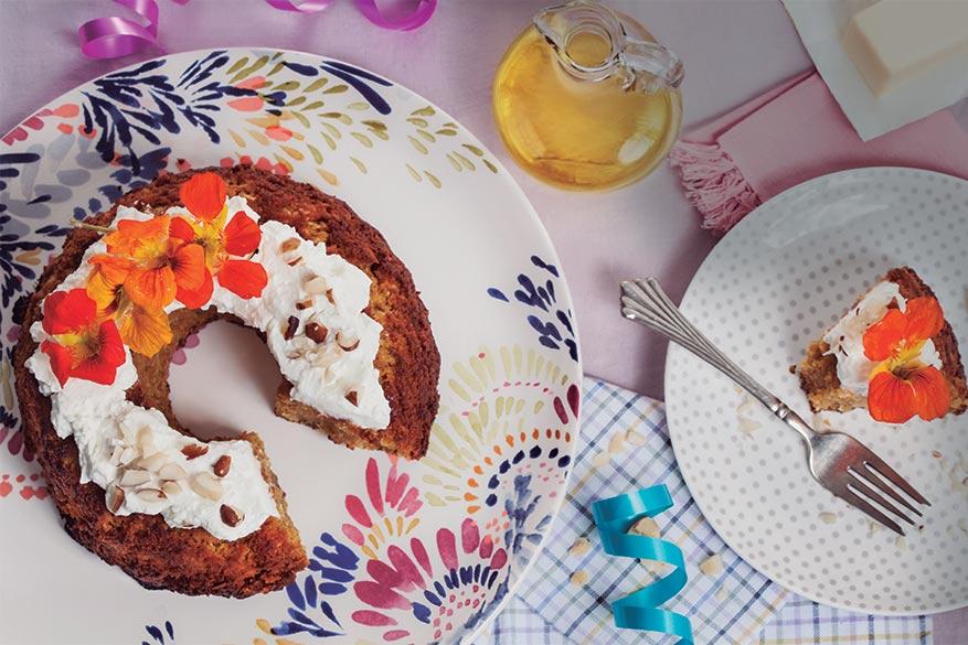 Torta de ahuyama y coco especiada