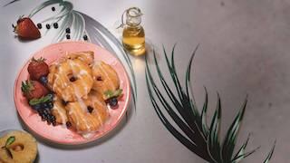 Roscas de piña con glaseado